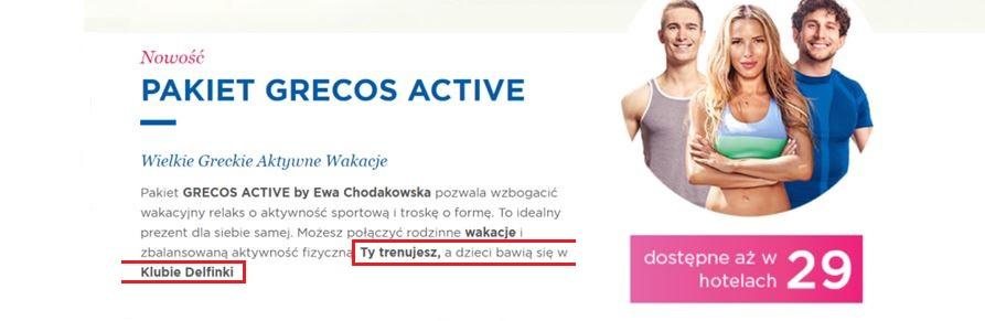 Grecos Active by Ewa Chodakowska - Ewa zaprasza do 29 hoteli